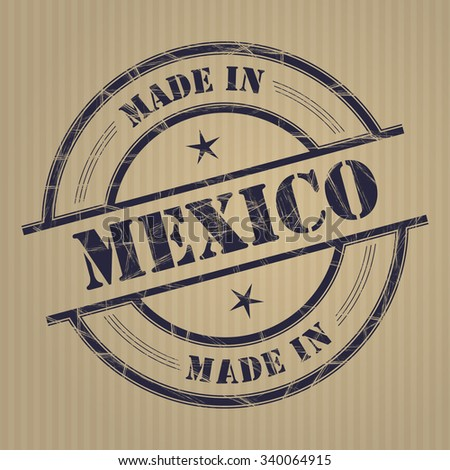 Made in Mexico grunge rubber stamp - stock vector