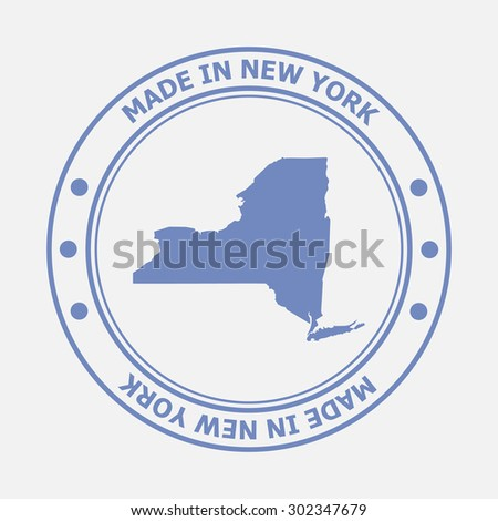 Made in New York seal. Sign of production. Vector illustration EPS8 - stock vector