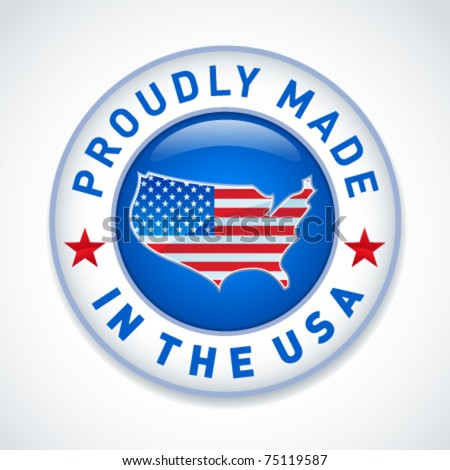 Made in the USA icon - stock vector