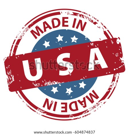 Made Usa Rubber Stamp Icon Isolated Stock Vector 604874837