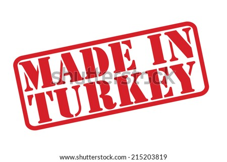 MADE IN TURKEY Rubber Stamp vector over a white background. - stock vector