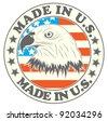 Made in U.S. symbol - stock vector