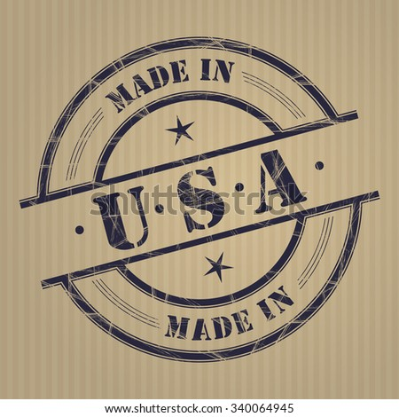 """Made in """"United States of America"""" grunge rubber stamp - stock vector"""