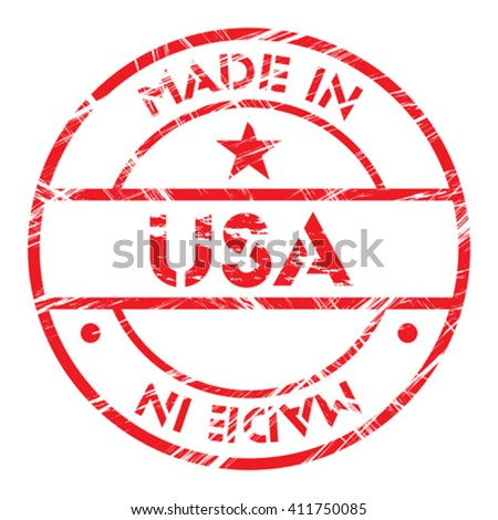 "Made in ""United States of America"" grunge rubber stamp"