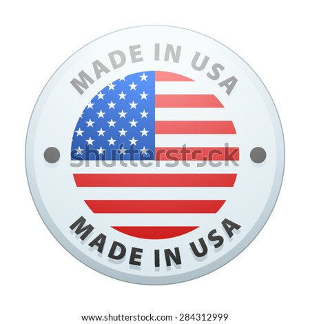 Made in USA - stock vector