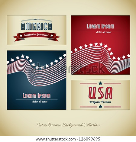 Made in Usa Banner Collection - stock vector