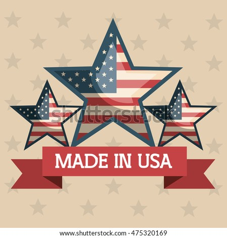 made in usa emblem icon vector illustration design