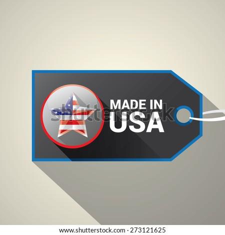 Made in USA Icon - Vector - stock vector