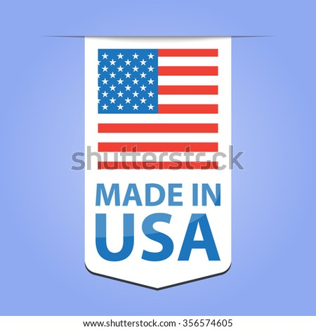 Made in USA ribbon - stock vector