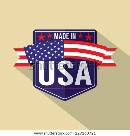 Made in USA Single Badge Vector Illustration - stock vector