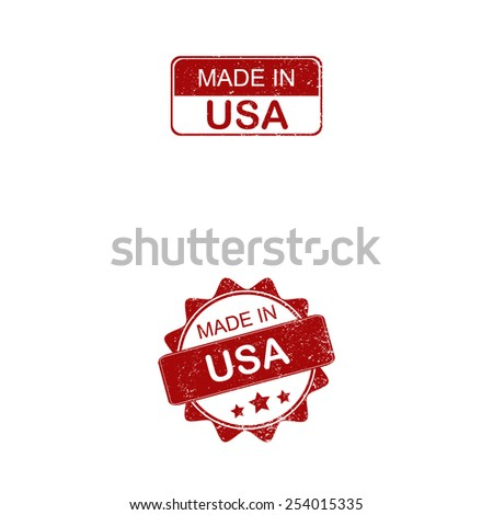 made in usa stamp on white background - stock vector