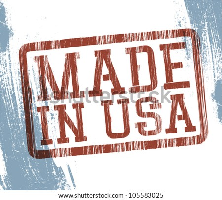 Made in USA stamp. Vector, EPS10 - stock vector