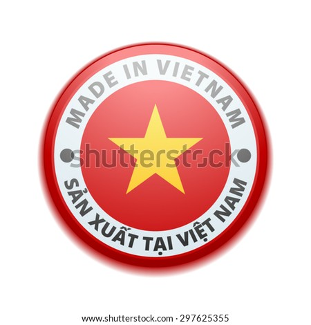 Made in Vietnam (non-English text - Made in Vietnam) - stock vector