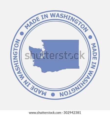 Made in Washington seal. Sign of production. Vector illustration EPS8 - stock vector