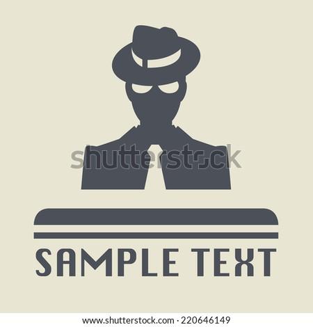 Mafia icon or sign, vector illustration - stock vector