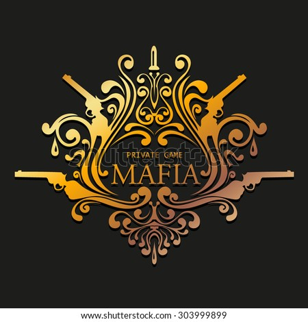 Mafia logo - stock vector