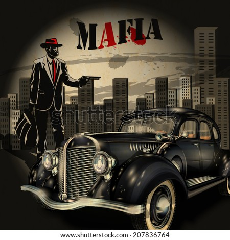 Mafia Gangster Background Stock Photo Photo Vector Illustration