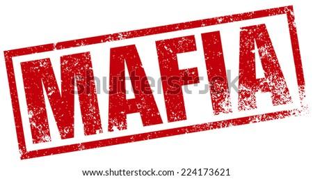 mafia stamp - stock vector