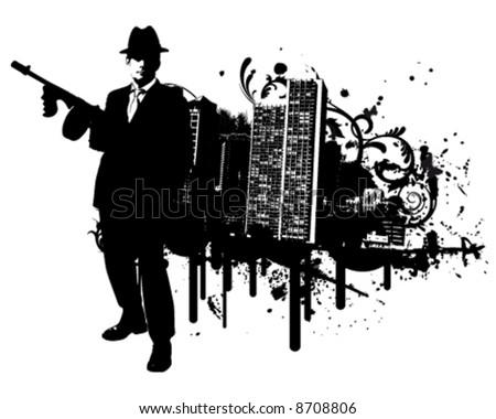 Mafia Town - stock vector