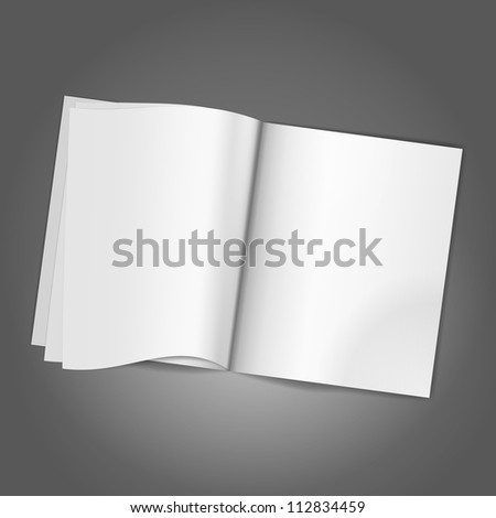 Magazine Blank Page background template. Vector illustration - stock vector