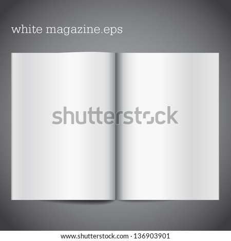 magazine blank page template design layout stock vector 2018