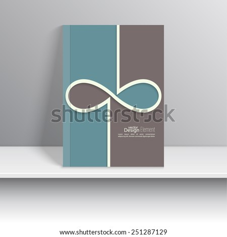 Magazine Cover with colored stripes, infinity sign. For book, brochure, flyer, poster, booklet, leaflet, postcard, business card, annual report. vector illustration. abstract background - stock vector