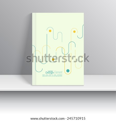 Magazine Cover with lines and dots. schematic. For book, brochure, flyer, poster, booklet, leaflet, cd cover design, postcard, business card, annual report. vector illustration. abstract background - stock vector