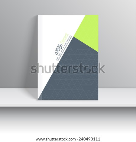Magazine Cover with pieces  colored paper, triangles. book, brochure, flyer, poster, booklet, leaflet, cd cover design, postcard, business card, annual report. vector illustration. abstract background - stock vector