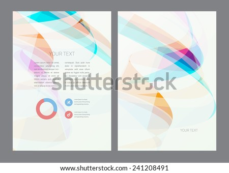 Magazine, flyer, brochure and cover layout design template - stock vector