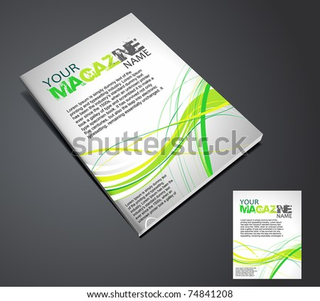 Magazine layout design template. Vector Illustration - stock vector