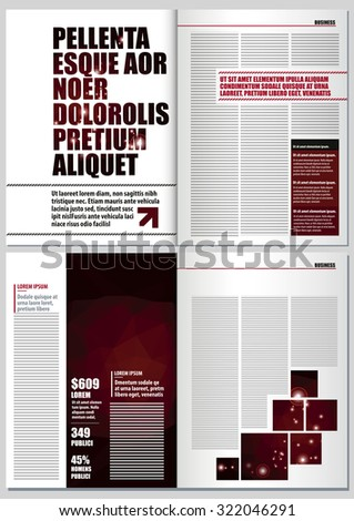 Magazine Layout Design Template 4 Pages Stock Vector 322046291 ...