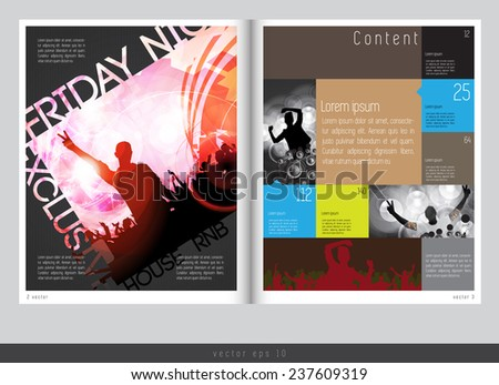 Magazine layout design. Vector easy to editable - stock vector