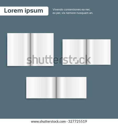 Magazine Open Page Book Blank Empty Sheet Vector Illustration - stock vector