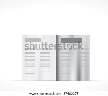 Magazine spread. Vector. - stock vector