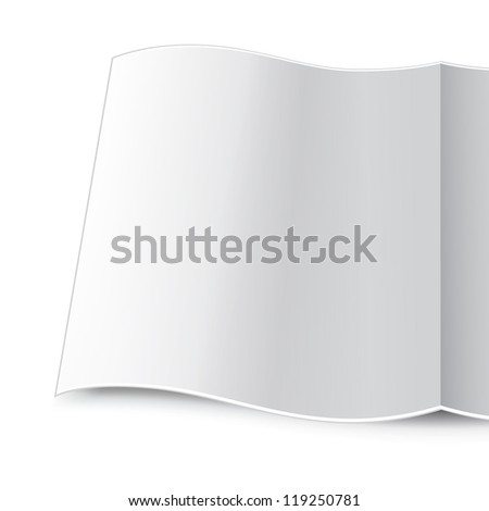 Magazine template for your academic work - stock vector