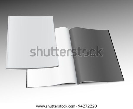 Magazines template - stock vector