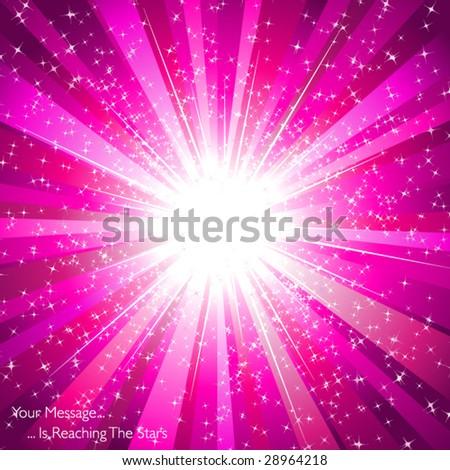 Magenta color explosion - stock vector
