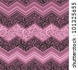 magenta rose pattern lace - stock