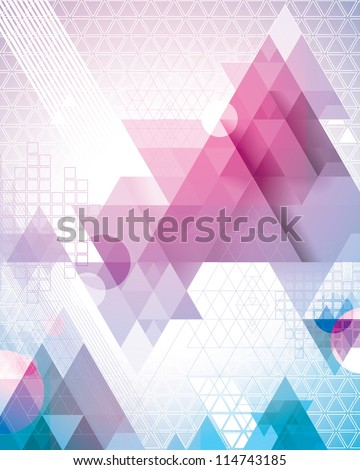 Magenta Triangles - stock vector