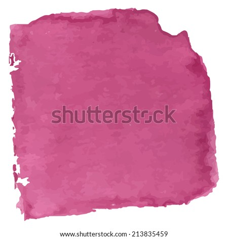 Magenta watercolor banner background. Illustration made in a vector. - stock vector