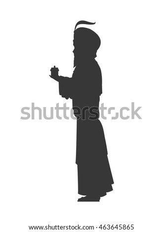 magi silhouette icon vector illustration