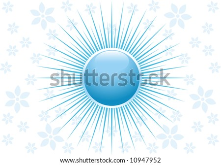 Magic abstract background with flowers - stock vector