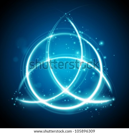 magic background celtic knot shape sign - vector - stock vector
