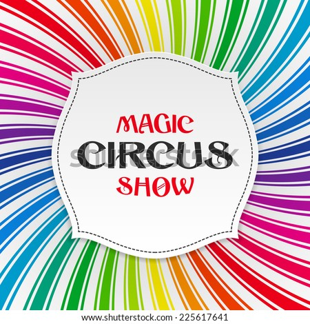 Magic circus show poster, background. Vector. - stock vector