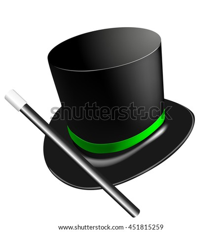 Magic cylinder hat vector illustration - stock vector