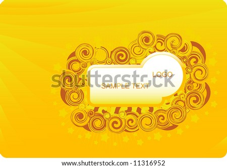 Magic golden abstract background design - stock vector
