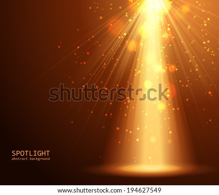 Magic light background vector illustration - stock vector