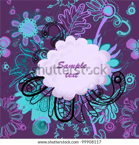 Magic seamless floral background place invitation stock vector magic seamless floral background with place for invitation text vector stopboris Choice Image