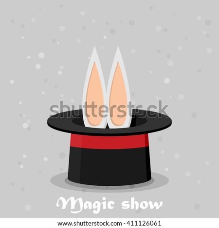 Magic show. Flat style design - vector - stock vector