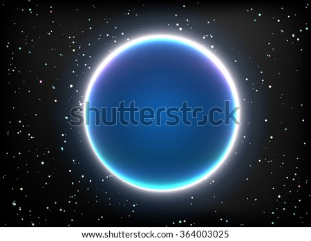 Magic Space  planets, stars Vector - stock vector